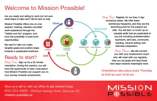 Mission Possible Welcome Brochure Back